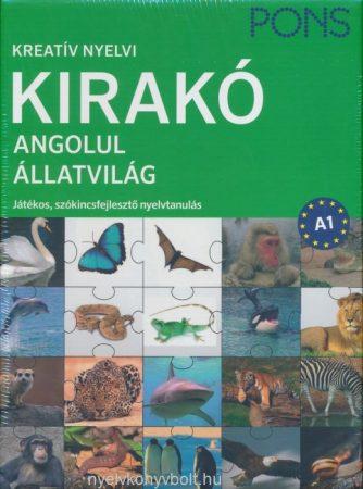 Kreatív Nyelvi Kirakó Angolul - Állatvilág - Játékos, szókincsfejlesztő nyelvtanulás