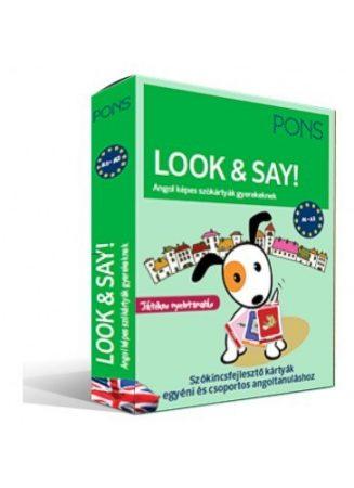 PONS Look & Say Angol – képes szókártyák gyerekeknek