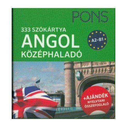 PONS Szókártya - Angol középhaladó 333 szó