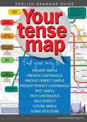 YOUR TENSE MAP © - Igeidő tanító térképes társasjáték, Intermediate
